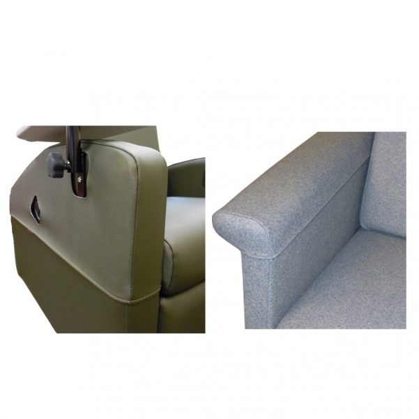 Armrest Cover Options for Winco Medical Recliners. Specific options vary based on chair model.